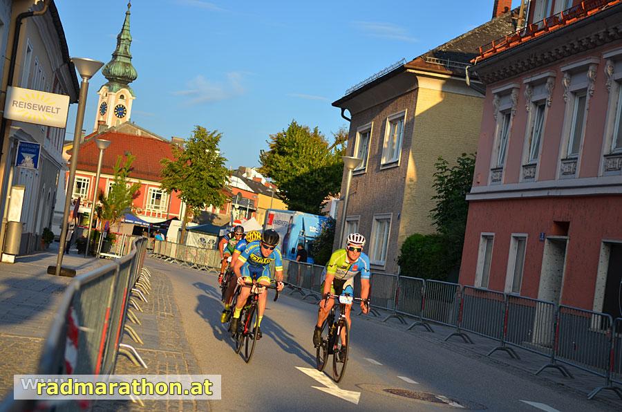 Start und Ziel des Radmarathons ist das Stadtzentrum von Grieskirchen