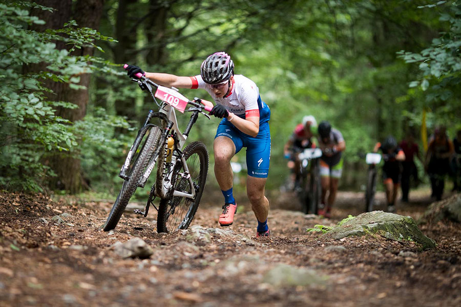 Lusatian Mountains again offered challenging route full of complicated climbs and often rocky descents (Pic: Malevil Cup)