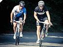 Paolo Bettini und Paolo Savoldelli testen den Gran Fondo Colnago