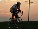 Wolfgang Fasching mit dem Rennrad quer durch Russland