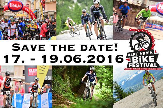 Alpe-Adria Bikefestival Villach 2016 mit neuen Strecken