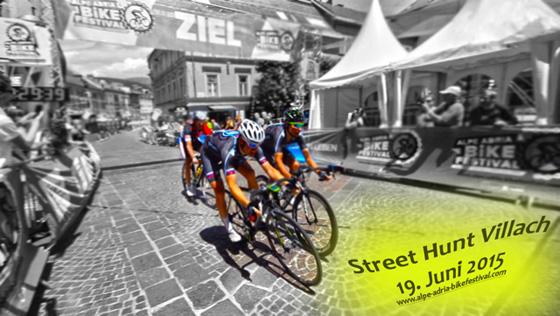 Street Hunt Villach - Das erste Altersklassen-Radkriterium im Rahmen des Alpe-Adria-Bikefestivals!